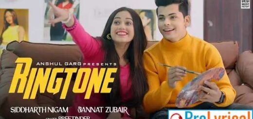 Ringtone (Punjabi) Lyrics by Preetinder