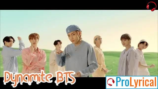Lyrics of Dynamite BTS _ Dynamite Lyrics in English - BTS