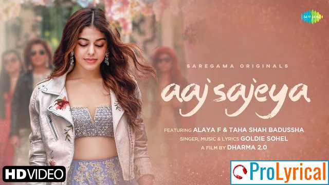 Aaj Sajeya Trending Wedding Song 2021 Lyrics