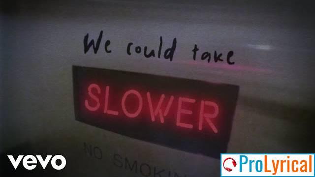 Slower Lyrics -Tate Mcrae