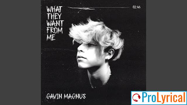 What They Want From Me Gavin Magnus Lyrics